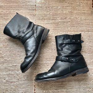 Rag & Bone Black Leather Boots 39